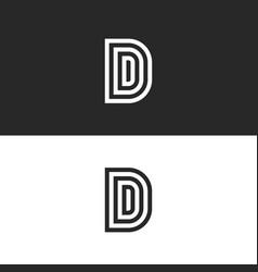 Initials ddd letters monogram or d logo design vector