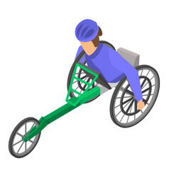 invalid paralympic race icon isometric style vector image