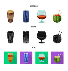 Isolated object drink and bar sign collection vector
