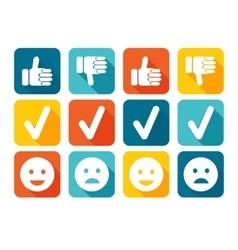 Like and Dislike Icon Set vector