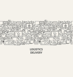 logistics delivery banner concept vector image