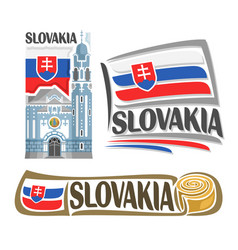 logo for slovakia vector image vector image