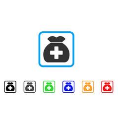 medical fund sack framed icon vector image