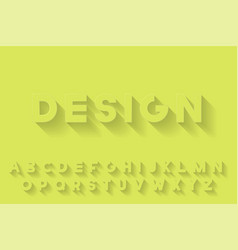 modern stylized font with shadow creative english vector image