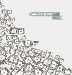 Money dollar banknotes flow vector