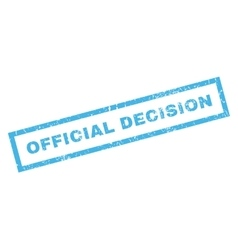 Official decision rubber stamp vector