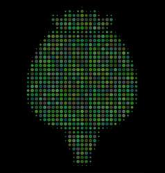 Opium poppy halftone icon vector