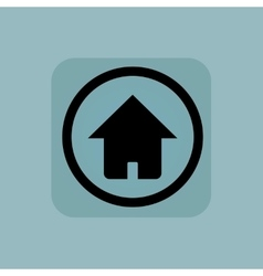 Pale blue home sign vector
