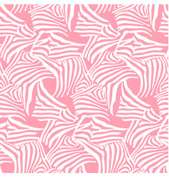 Pink seamless pattern texture with zebra vector