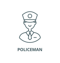policeman line icon linear concept vector image