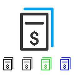 Price page copy flat icon vector