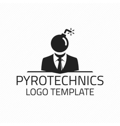 Pyrotechnics logo template vector image