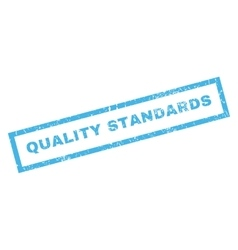 Quality Standards Rubber Stamp vector
