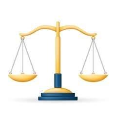 Realistic Justice Scales Law Balance Symbol vector