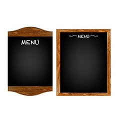 Restaurant Menu Board Set With Text vector image