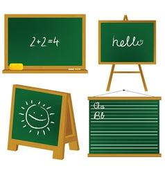 School blacboards vector image vector image