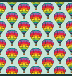 seamless pattern with bright balloons texture vector image