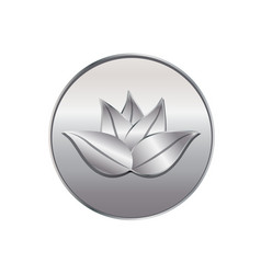 silver lotus plant icon vector image