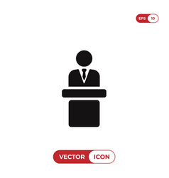 speaker podium icon vector image