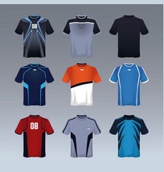 Sport tshirt male collection vector