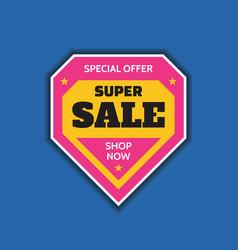 super sale badge logo design emblem vector image