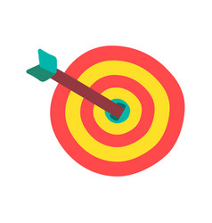 target with arrow flat color vector image