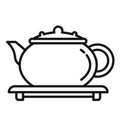 Tea ceremony icon outline style vector