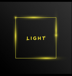 text light with rectangle shape background design vector image