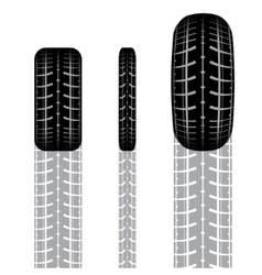 Tire track set 3 vector image