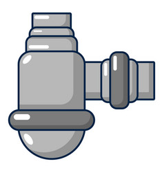 Water sewer sump icon cartoon style vector
