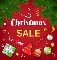 winter holiday and christmas sale card vector image