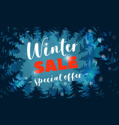 winter sale special offer concept banner cartoon vector image