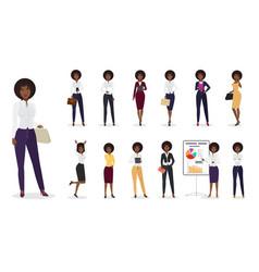 cartoon african american businesswoman vector image