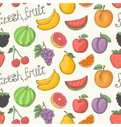 Fresh fruit pattern vector image