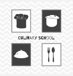 hand drawn silhouettes restaurant posters vector image