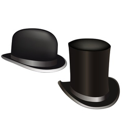 hat and cylinder vector image vector image