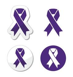 Indigo ribbon - bullying stalking awareness vector image vector image