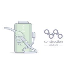 alternative energy and creative logo vector image vector image