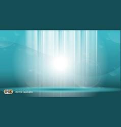 blue waves lights sparkling effects background vector image