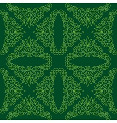 dark green seamless pattern vector image vector image