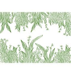 Grass banner artistic vector
