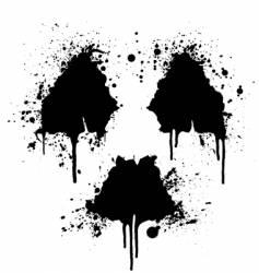 radioactive symbol ink splatter vector image vector image