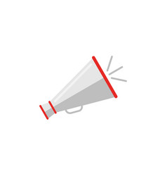 Retro megaphone icon in flat style vector