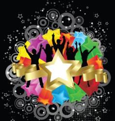 retro party stars vector image vector image