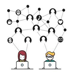 Social Media Network people vector image vector image