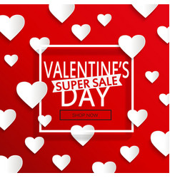 valentines day super sale vector image vector image