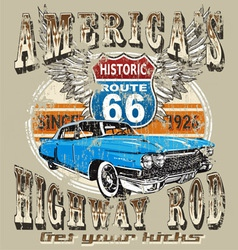 Americas highway rod vector