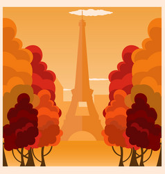 autumn in paris france autumn vector image