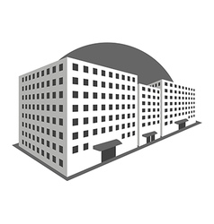 Buildings in perspective on a white background vector image vector image