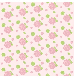 Seamless pattern of stylized flowers vector image vector image